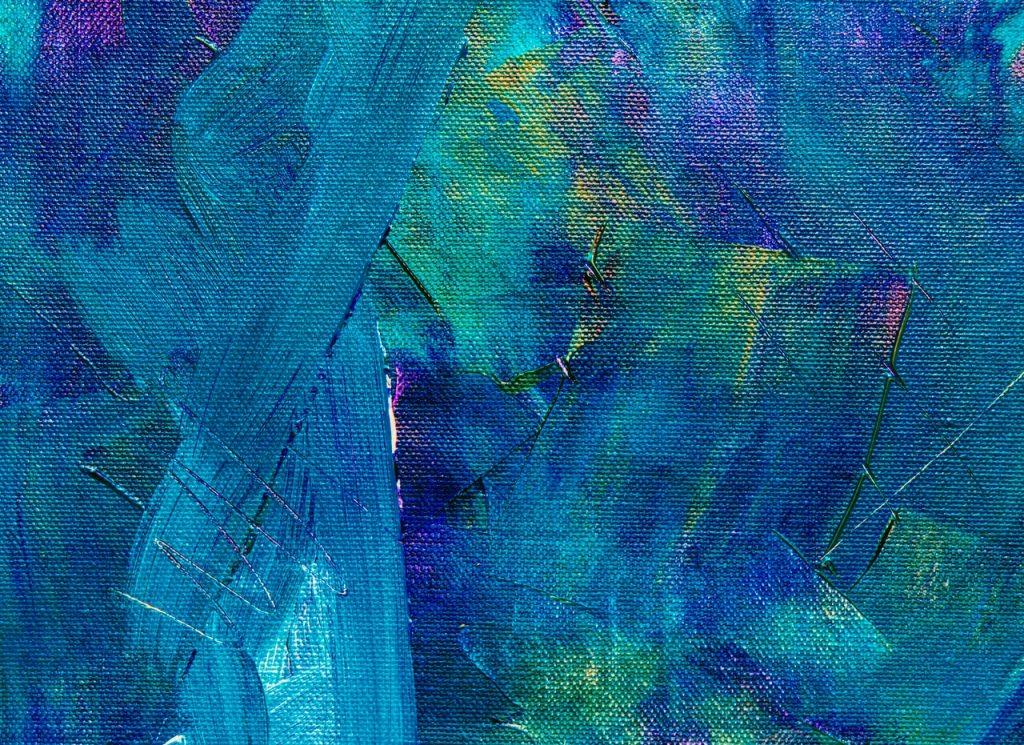 Peinture bleu cyan