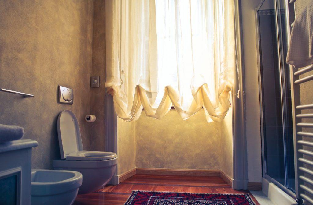 Salle de bain, cuvette de toilette
