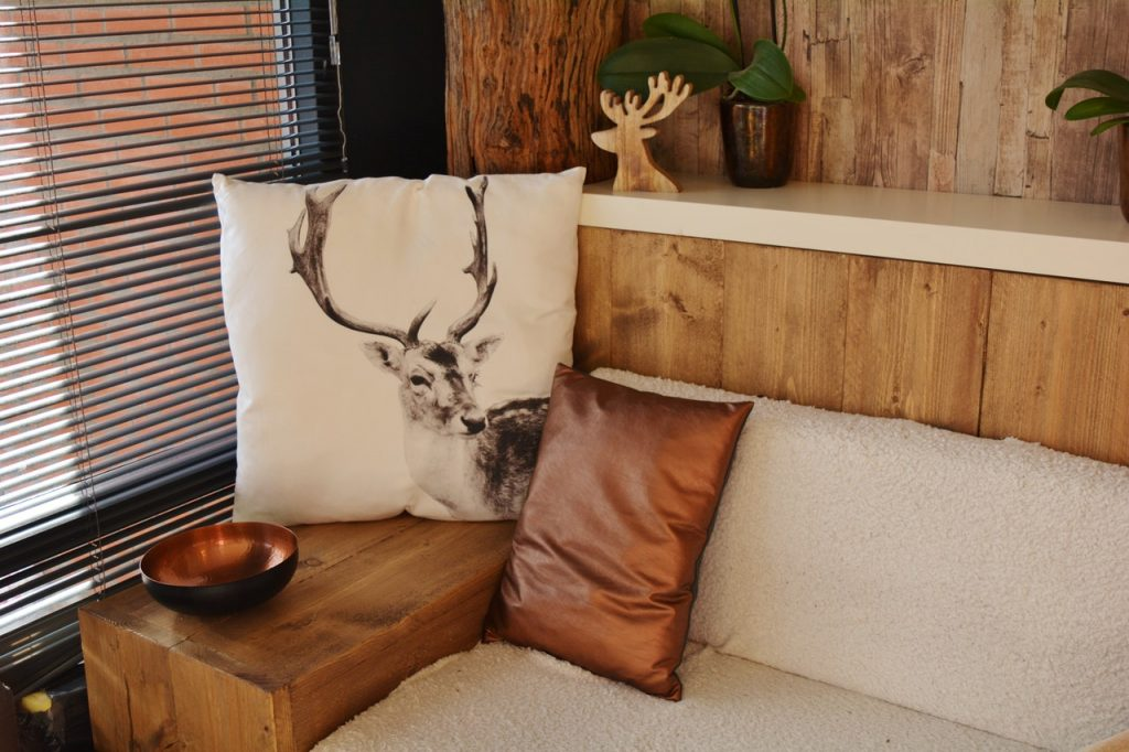 Chalet en bois, décoration chaleureuse