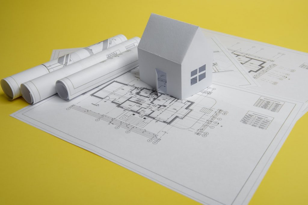 Plan, maison construction architecte