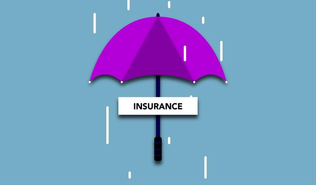 Parapluie violet, image représentant sinistre, assurance, inondation
